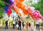 Цветной дым для свадьбы в Красноярске
